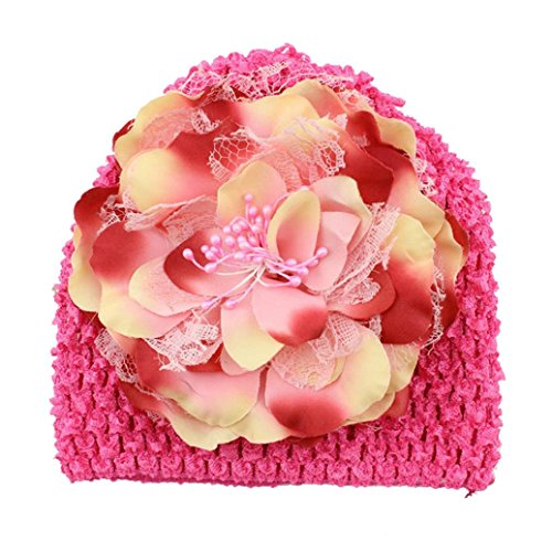 CocoMarket Newborn Baby Flower Cotton Hat (Hot pink) (Hot Tub Hat compare prices)