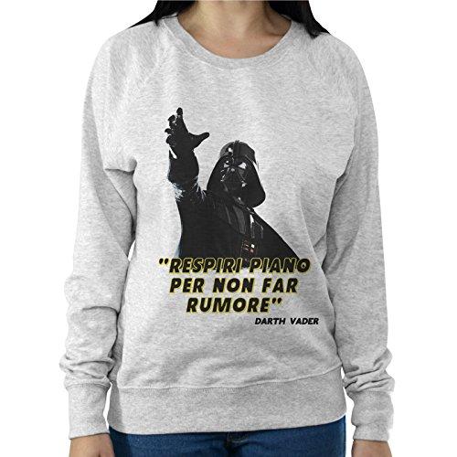 Felpa Leggera Donna Darth Vader Star Wars Citazione Respiri Piano