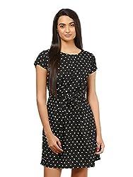 Mayra Women's Crepe Dress (1604D19310_XL Black )