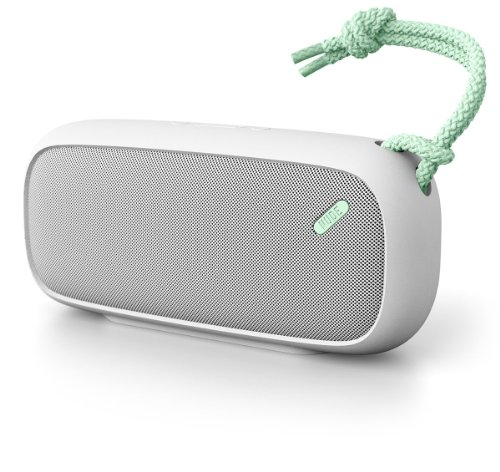 Nudeaudio Move L Portable Wireless Bluetooth Speaker - Grey/Mint