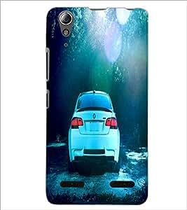 PrintDhaba Car D-2838 Back Case Cover for LENOVO A6000 (Multi-Coloured)