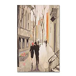 Trademark Fine Art Village Promenade Neutral Artwork by Julia Purinton, 30 by 47-Inch