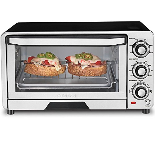 Cuisinart TOB-40FR Custom Classic Toaster Oven Broiler, Silver (Certified Refurbished) (Oven Broiler Cuisinart compare prices)