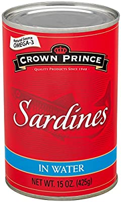 Crown Prince Sardines in Water, 15-Ounce Cans (Pack of 12) from Crown Prince