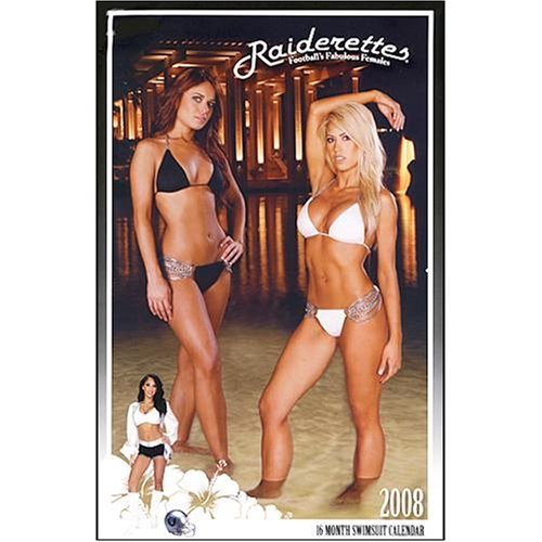 Sexy Cheerleaders, Oakland Raiders 2008 Wall Calendar