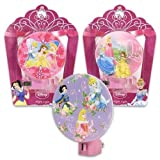 Disney Princess Night Light Pink Cinderella, Belle, Snow White