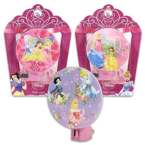 Disney Princess Night Light Pink Cinderella, Belle, Snow White