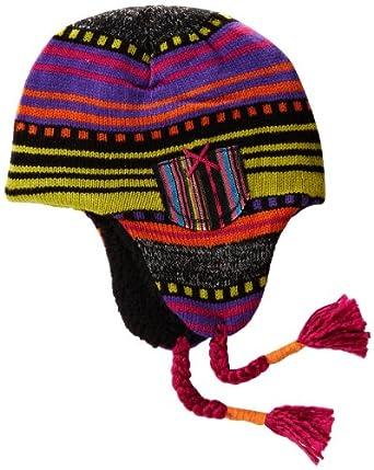Muk Luks Women's Guatemalan Faux Fur Helmet Hat, Multi, One Size