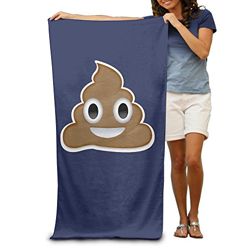 LCYC Cute Poop Smiley Face Adult Vibrant Beach Or Pool Hooded Towel 80cm*130cm (Diablos Fire Caps compare prices)