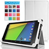 MoKo Google New Nexus 7 FHD 2nd Gen Case - Slim Folding Cover Case for Google Nexus 2 7.0 Inch 2013 Generation Android 4.3 Tablet, WHITE (with Smart Cover Auto Wake / Sleep Feature)