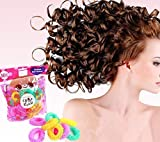 6pcs Magic Doughnut Donut Sticks Rollers Circle Spiral Plastic Hair Curly Curler Curl Roll Ringlets Wave Hairdressing Care Hairstyle Maker Styling Tool DIY Salon Accessory