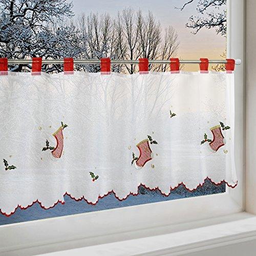 scheibengardine weihnachtsstiefel f r k che und. Black Bedroom Furniture Sets. Home Design Ideas