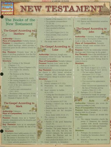 New Testament Laminated Reference Guide (Quickstudy: Academic)