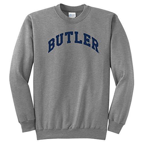 NCAA Butler Bulldogs Arch Classic Crewneck Sweatshirt, XX-Large, Light Heather Grey (Butler Bulldogs Sweatshirt compare prices)