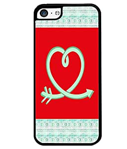 PrintVisa Metal Printed Love Logo Designer Back Case Cover for Apple iPhone 5C-D4977