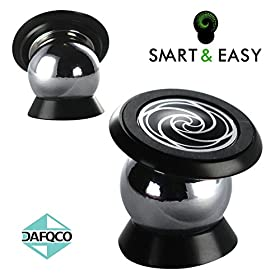 SMART & EASY Magnetic Cell Phone Holder By DAFQCO - For All Phone Sizes, Apple Or Android - High Quality Adhesive Base - Easy Install On Any Surface Including Desk, Wall, Or Car Dashboard - Luxurios Design, Compact Packaging - 360 Degree Rotation Ball Mount With Free Extras Plus Enjoy A Massive Discount - Completely Safe + Complete Satisfaction Guaranteed! For a Genuine Bundle Always Buy from DAFQCO on Amazon.com