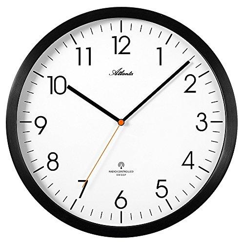 DESIGN- FUNK-WANDUHR FUNKUHR Atlanta 4382/7 Wandfunkuhr Uhr Büro Küchenuhr mit arabischen Zahlen, Wanduhr modern geräuscharm leise