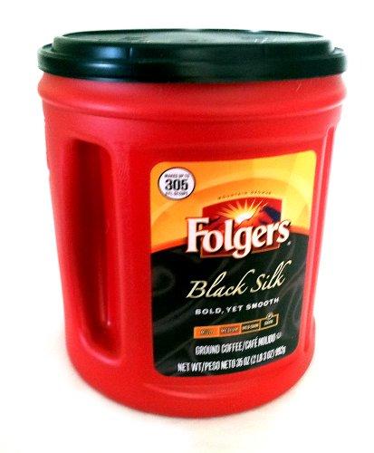Folgers Black Silk Regular Dark Ground Coffee 2 Lb. 3 Oz.