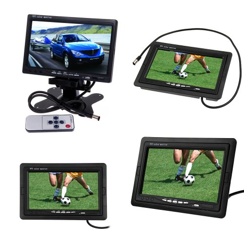 Woputuo 7 Inch Tft Color Lcd 2 Video Input Car Rear View Camera Monitor Support Rotating The Screen And Connect With Dvd Vcr