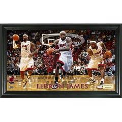 Miami Heat LeBron James Pano 12x20 Frame by BULLION INTERNATIONAL