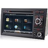 A-Sure-DVD-GPS-Sat-Nav-Autoradio-Fr-Audi-A4-S4-RS4-8F-B9-B7-Seat-Exeo-SDUSB-Bluetooth