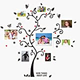 UberLyfe Special Memories Tree Wall Sticker cum 8 White Photo Frames (Wall Covering Area: 115cm x 110cm) - WS-000786