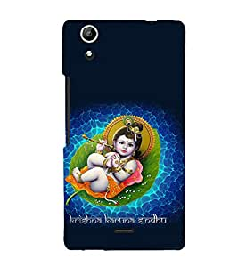printtech Lord Krishna Small Flute Back Case Cover for Micromax Canvas Selfie Lens Q345