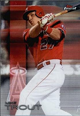 2016 Finest #1 Mike Trout Los Angeles Angels Baseball Card