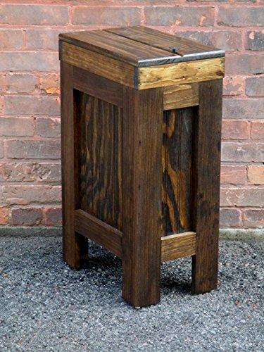 Wood Wooden Trash Bin Kitchen Garbage Can 13 Gallon , Recycle Bin, Dog Food Storage , Walnut Stain - Rustic Pine - Handmade in USA By Buffalowoodshop (Kitchen Wood Trash Bin compare prices)
