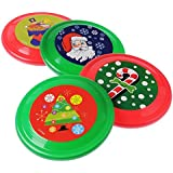 U.S. Toy U. S. Toy U. S. Toy Dozen Assorted Color Red & Green & Assorted Christmas Theme Mini Flying Disc Saucers - 6