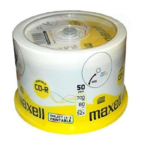 MAXELL 50 x CD-R - 700 Mo ( 80 min ) 52x - support de stockage