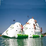 HolleywebTM Inflatable Iceberg Inflatable Water Park Water Climbing Inflatable Mountain for Commercial Size L