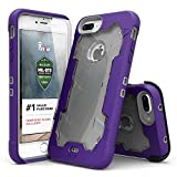 Zizo ジゾウ プロトンカバー iPhone7プラス用 Proton Cover iPhone 7 Plus Case [Military Grade Drop Tested] with FREE 0.3m 9H [Tempered Glass Screen Protector] Kickstand Holster Belt Clip パープル/クリアー Purple / Clear[並行輸入]