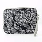 BLACK PAISLEY PRINT | Universal 10 inch Tablet Bag with Wrist Strap fits 10.1 Asus Eee Pad Transformer. Bonus Ekatomi Screen Cleaner
