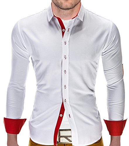 Camicia a maniche lunghe BetterStylz Christobal Slim Fit camice e per il tempo libero Buiseness 3 COLORI (S-XL)