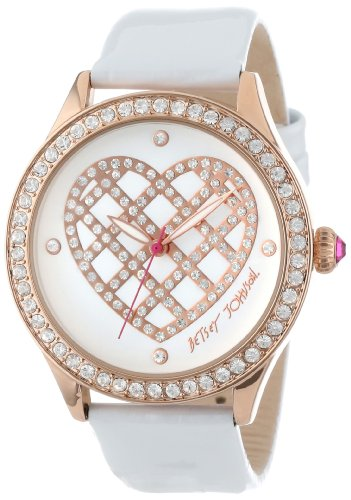 Betsey Johnson Women's BJ00131-19 Analog Quilted Heart Dial Watch