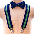Whale Bow Tie Suspender Set