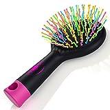 Detangling Hair Brush - Detangle Hair Effortlessly - For Wet Or Dry Hair - Kids & Adults - MONEY BACK GUARANTEE (Black)