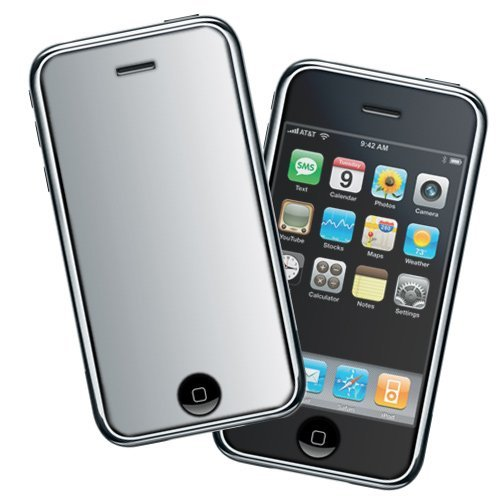Durable Mirror Reusable Lcd Screen Protector For At&T Apple Iphone 3Gs 3Rd Generation Smartphone
