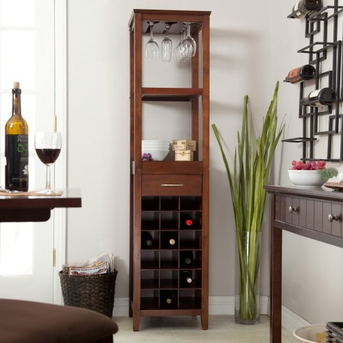 18 Bottle Wine Tower and Glass Holder – Top Price image