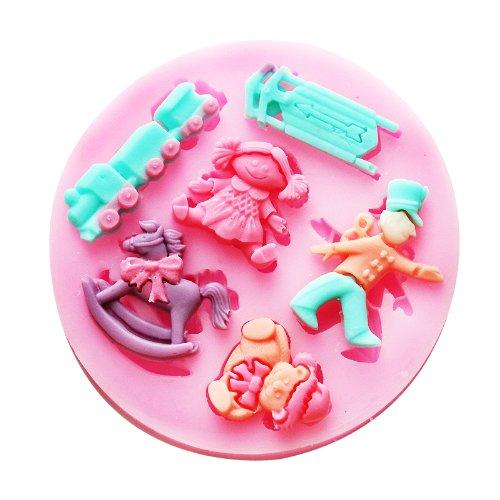 Longzang Mini Baby Shower F0492 Fondant Mold Silicone Sugar Mold Craft Molds Diy Gumpaste Flowers Cake Decorating