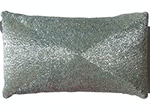 Max Studio Home Decorative Pillows : Amazon.com - Max Studio Beaded Decorative Urban Chic Toss Pillow Cover 100% Cotton Bugle Beads ...