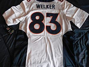 Denver Broncos New 2013 Wes Welker White Road On-field Jersey Size (Large) 44 by ON-FIELD