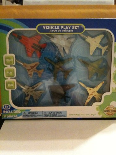17 Pieces Vehicle Play Set With Ten (10) Die Cast Cars