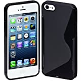 Cimo S-Line Back Case Flexible Cover TPU for Apple iPhone 5 - Black