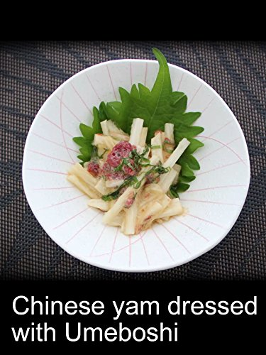 Chinese yam dressed with Umeboshi