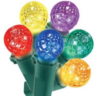 50 Mulit-Color Faceted Led Sphere Lights Holiday String Light Set