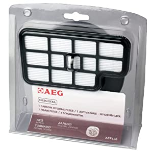 AEG AEF 138 Filter-Set für AEG Cyclon Power(AE 78, AE7805, AE7810, AE7811 ,Aktivkohle- Hygiene- Filter, Schaumfilter)