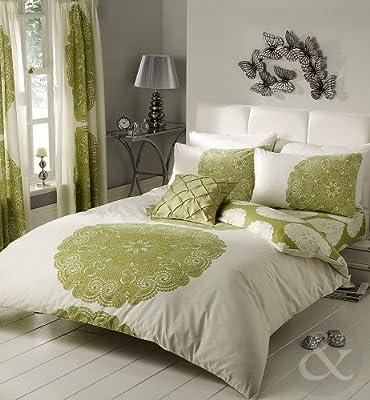 Floral & Striped Poly Cotton Duvet Cover Bed Quilt Cover Bedding Set Parent Parent