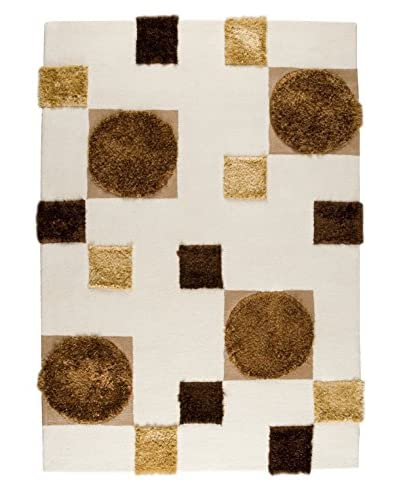 MAT The Basics Anatolia Rug, White/Beige, 6' 6